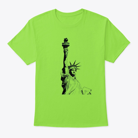 Lady Liberty Lime T-Shirt Front