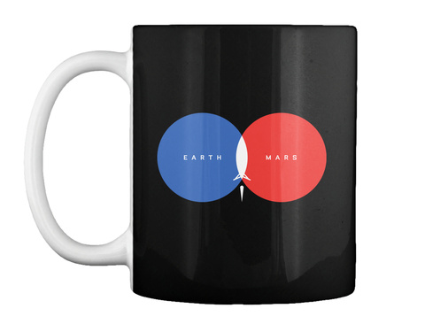 From Earth To Mars Mug [Usa] #Sfsf Black Mug Front