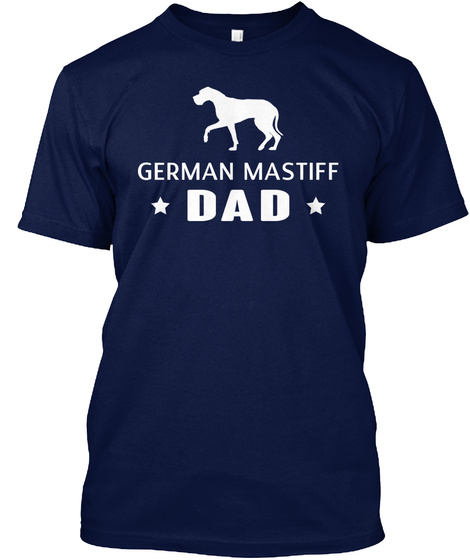 German Mastiff Navy T-Shirt Front