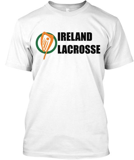 Ireland Lacrosse White T-Shirt Front
