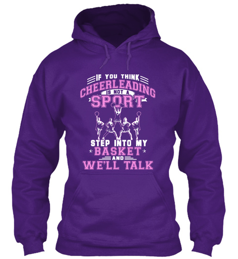 Cheerleading Is A Sport Purple T-Shirt Front