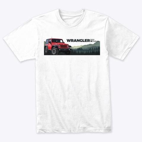 Jk Forum Heather White T-Shirt Front