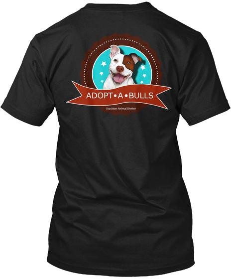 Adopt . A. Bulls Black T-Shirt Back