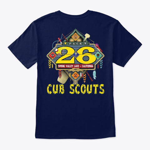 Pack 26 Spring Valley Lake Cub Scouts   Navy T-Shirt Back