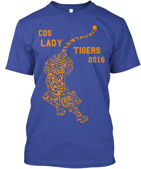Cos Lady Tigers 2016 Deep Royal T-Shirt Front