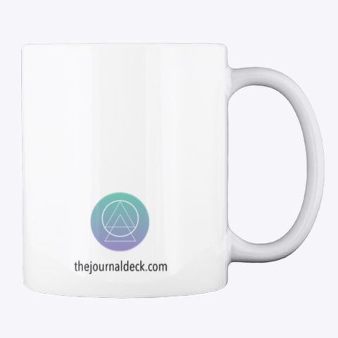 Journal Tea Yoga Mug  White Mug Back