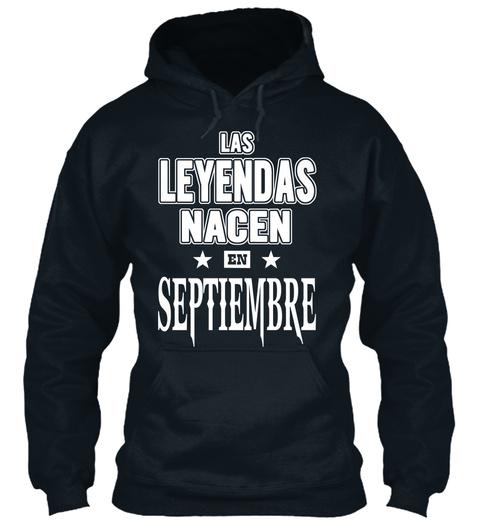 Las Leyendas Nacen En Septiembre French Navy Sweatshirt Front