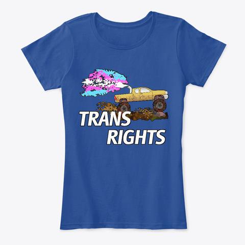 Trans Rights Truck Deep Royal  T-Shirt Front
