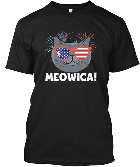 4132f0607af783 Funny Cat Fourth Of July 4th Products from American Flag T-Shirts ...