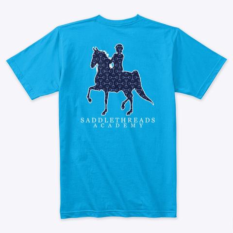 Academy   Blue Bits Turquoise T-Shirt Back