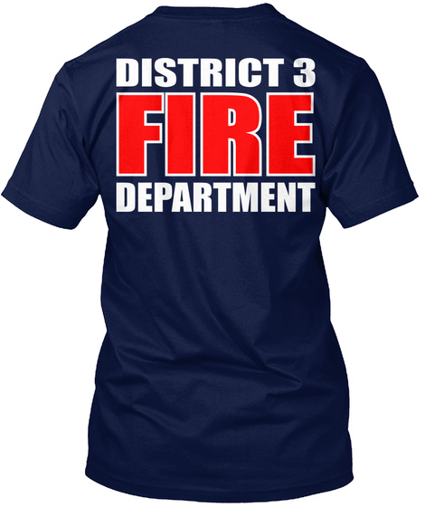 District 3 Fire Department Navy T-Shirt Back