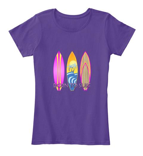 Born To Sure Purple áo T-Shirt Front