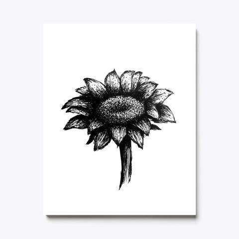Sunflower Black And White Art Standard T-Shirt Front