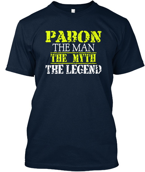 Pabon The Man The Myth The Legend New Navy T-Shirt Front
