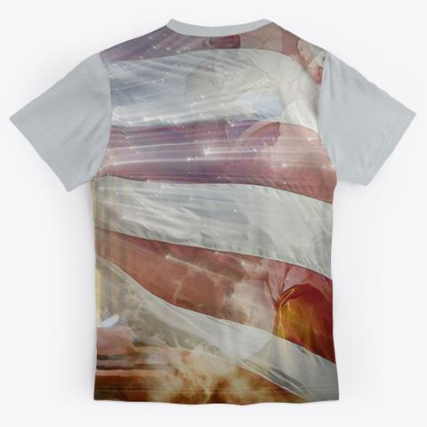 Jesus Guides President Trump Light Grey T-Shirt Back