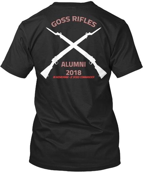 Goss Rifles Alumina 2018 In Memoriam Jc Dood Commanders Vintage Black T-Shirt Back