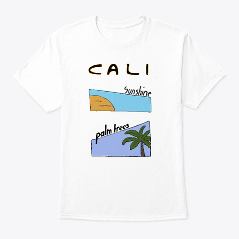 California Palm Shine White T-Shirt Front