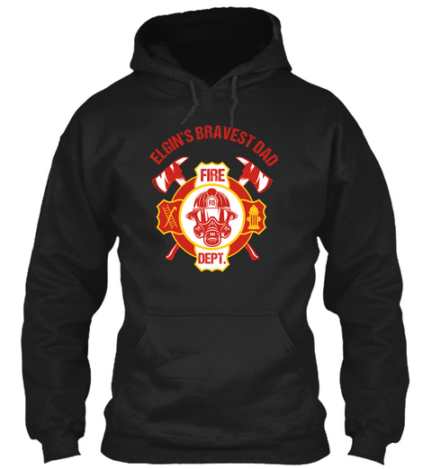 Firefighter Daddy, Best Firefighter Dad  Black T-Shirt Front
