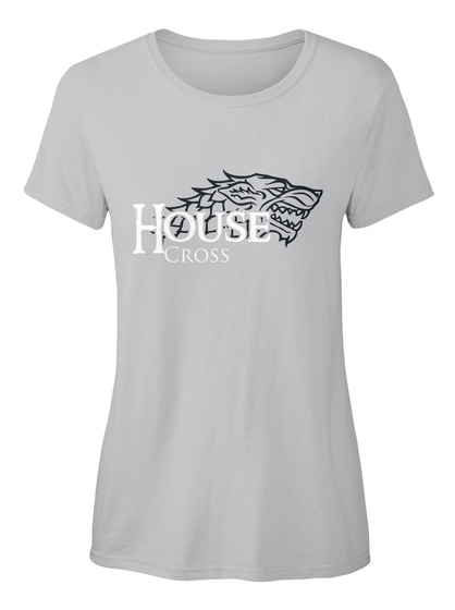 Cross Family House   Wolf Sport Grey T-Shirt Front