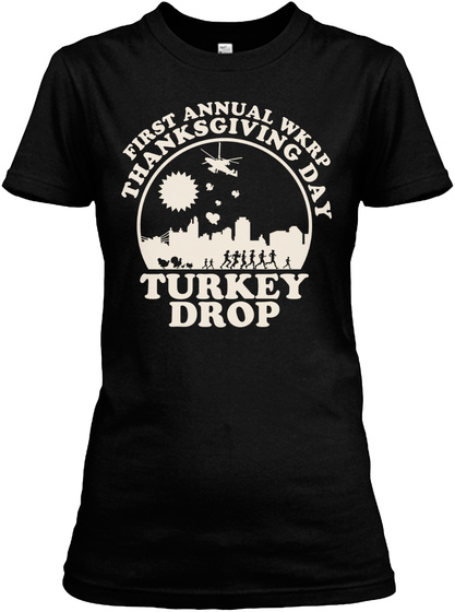 Thanksgiving First Anual W Kr P Black T-Shirt Front