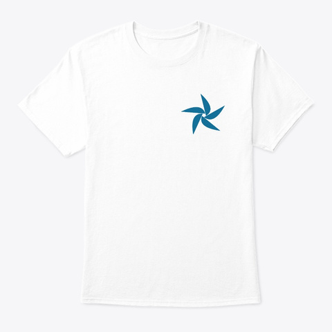 Pinwheel (Front & Back For T Shirts) White T-Shirt Front