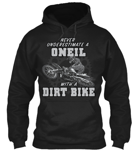 Oneil With A Dirt Bike Black T-Shirt Front