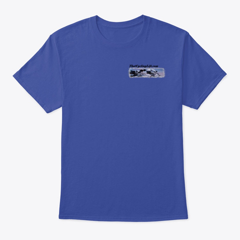 That Cycling Life.Com Official Gear Deep Royal T-Shirt Front