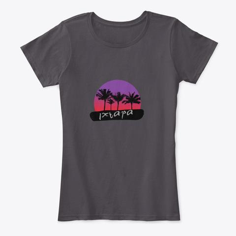 Ixtapa Mexico Heathered Charcoal  T-Shirt Front