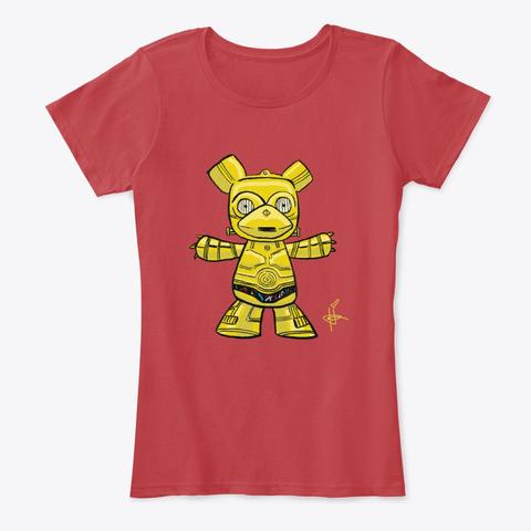 Golden Deity Bear Classic Red T-Shirt Front
