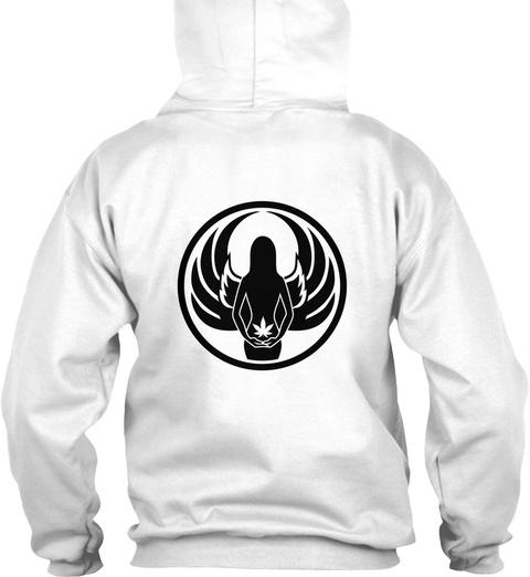 Elemental Hoodie White Sweatshirt Back