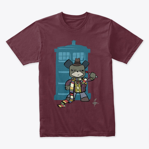 Scarf Bear Maroon T-Shirt Front