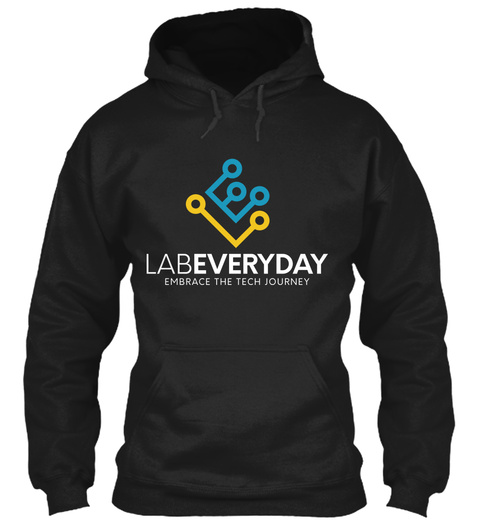 Labeveryday Color Tech Journey Hoodie Black T-Shirt Front