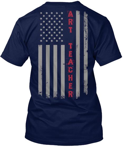 A R T  T E A C H E R Navy T-Shirt Back
