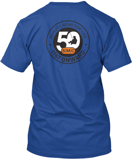 Quality Gear For Life 50 Smc 1967 Onboard Deep Royal T-Shirt Back