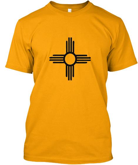 New Mexico Zia Symbol Unisex Fit T Shirt Gold T-Shirt Front