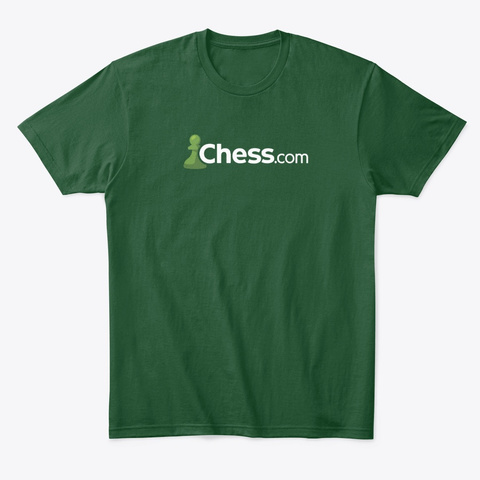 Chess.Com Classic Logo Wear Darks Forest Green  T-Shirt Front