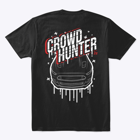 Crowd Hunter Black T-Shirt Back