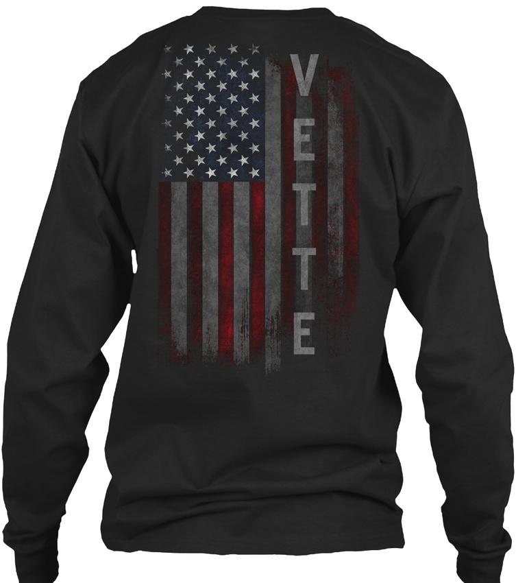 Vette Family American Flag Hanes Tagless Tee T-Shirt