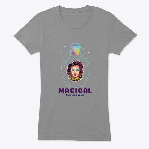 Magical Born To Be Queen Collection Premium Heather T-Shirt Front
