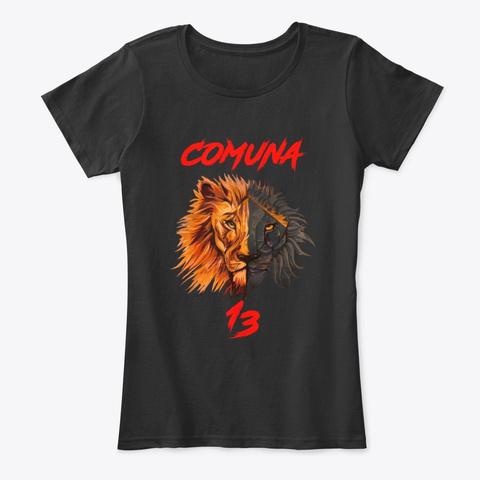 Comuna 13 Black T-Shirt Front