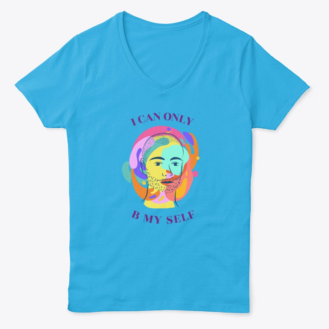 I Can Only B My Self (Type B) Aquatic Blue  T-Shirt Front