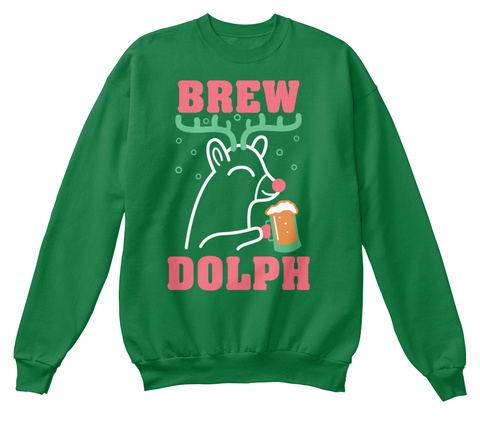 Brew Dolph Kelly Green  T-Shirt Front