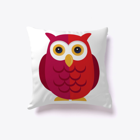 Owl Pillow  White T-Shirt Front