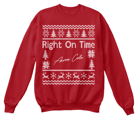 Right On Time Aaron Cole Deep Red  T-Shirt Front