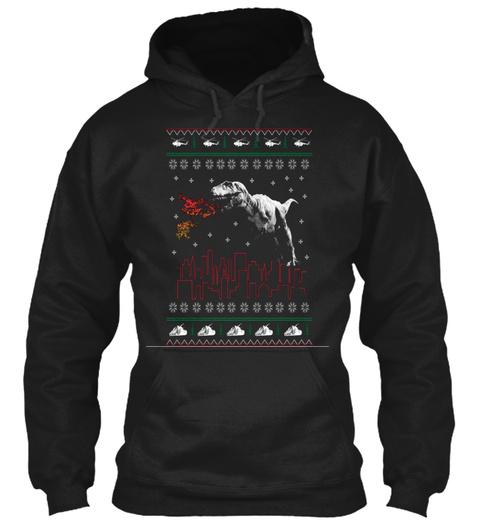 Christmas Fire Black T-Shirt Front