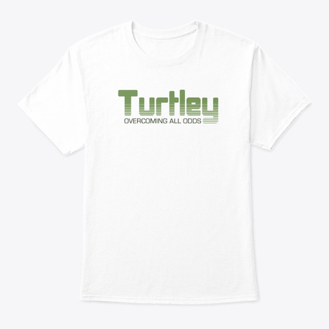 Turtley Tees White T-Shirt Front