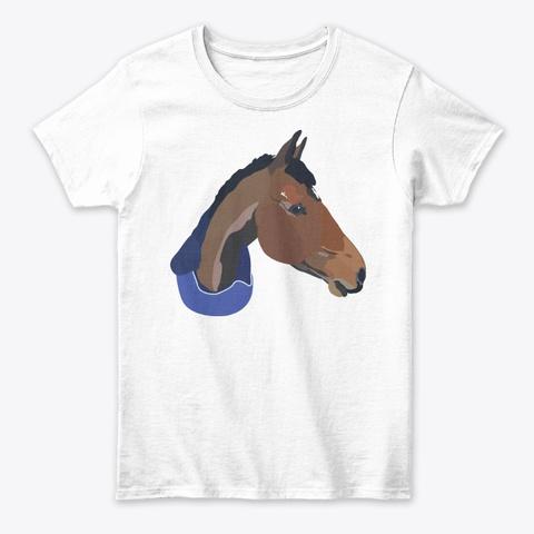 Classic Horse Design White T-Shirt Front