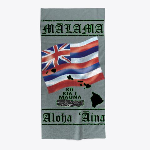 Malama Aloha ʻaina   Mauna Kea Protector Medium Grey T-Shirt Front