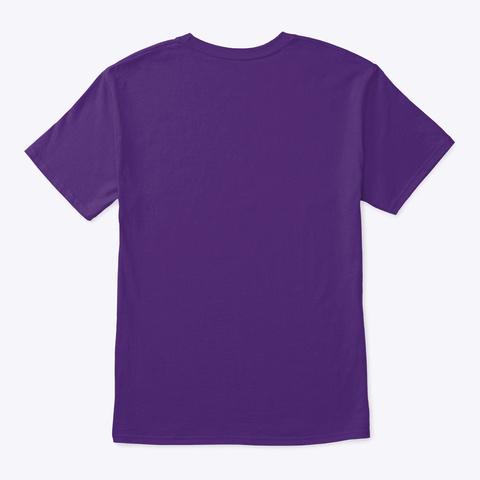 Transparent Logo  Purple T-Shirt Back