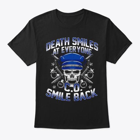 Correctional Officer Gift   Smile Back Black T-Shirt Front